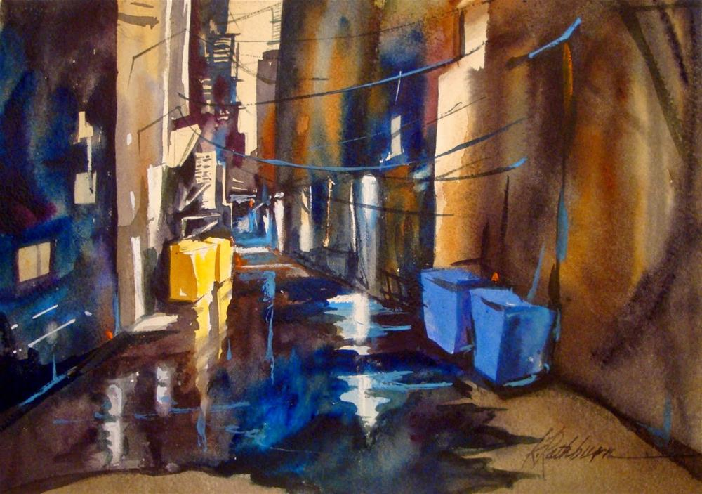 """""""Post Cards from Chicago - Alley Shapes"""" original fine art by Kathy Los-Rathburn"""