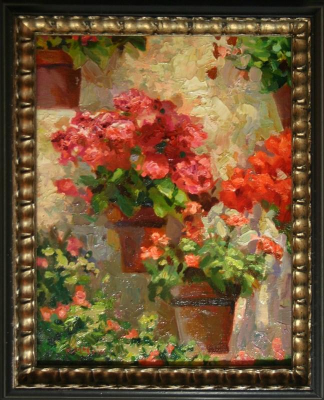 """""""Wall Flowers"""" original fine art by K.R. McCain"""