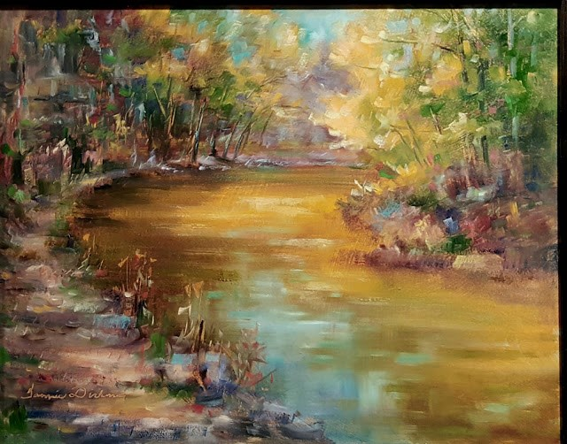 """Footpath Along Catfish Creek"" original fine art by Tammie Dickerson"