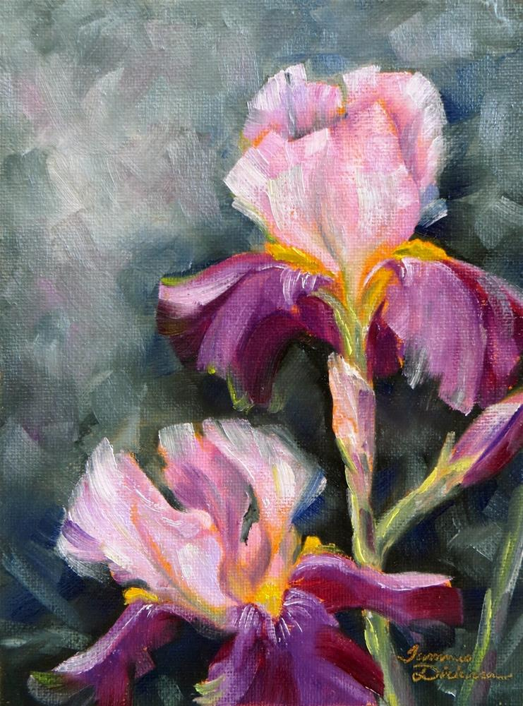 """""""Pink and Violet Iris"""" original fine art by Tammie Dickerson"""
