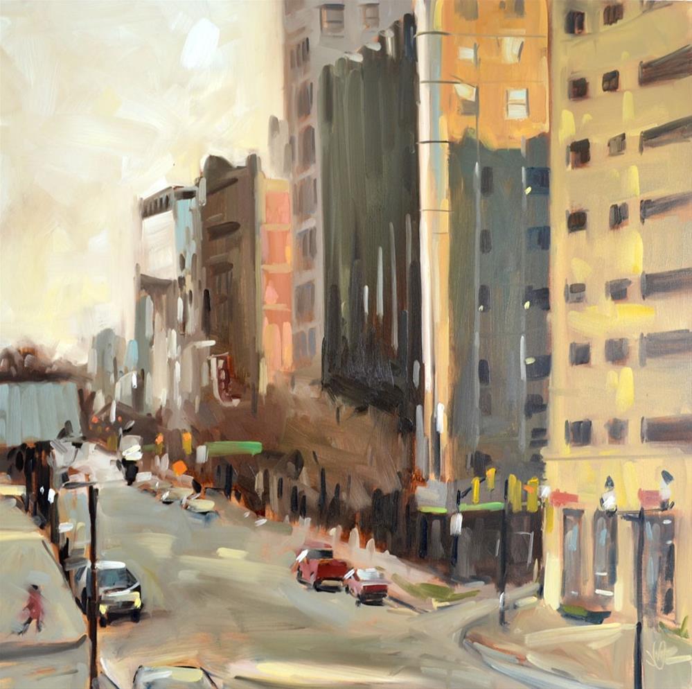 """City Heights"" original fine art by Jessica Green"