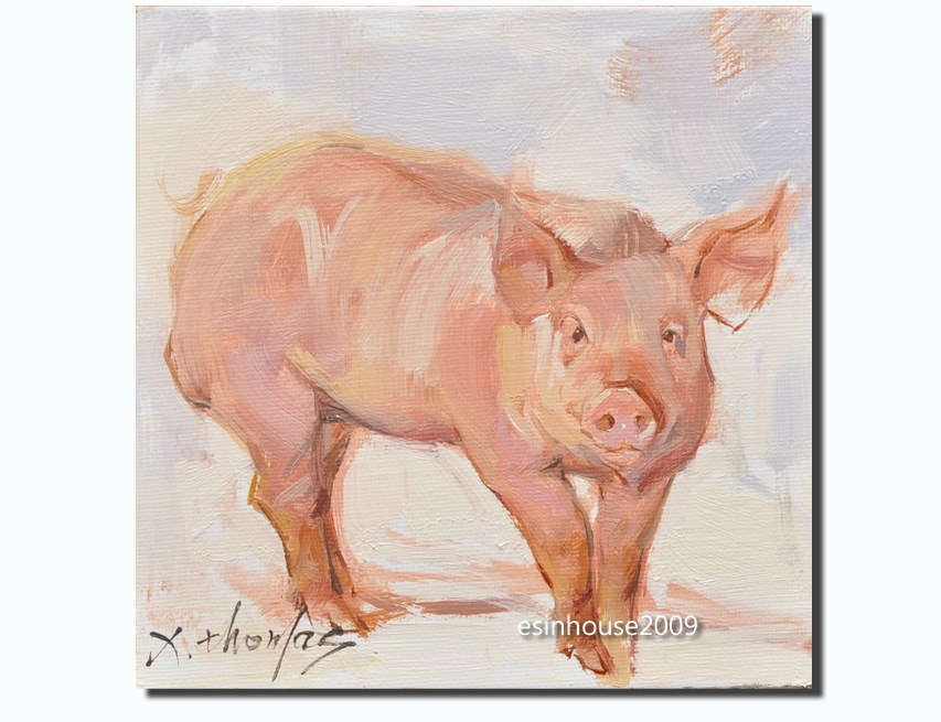 """boar,pig"" original fine art by Thomas Xie"