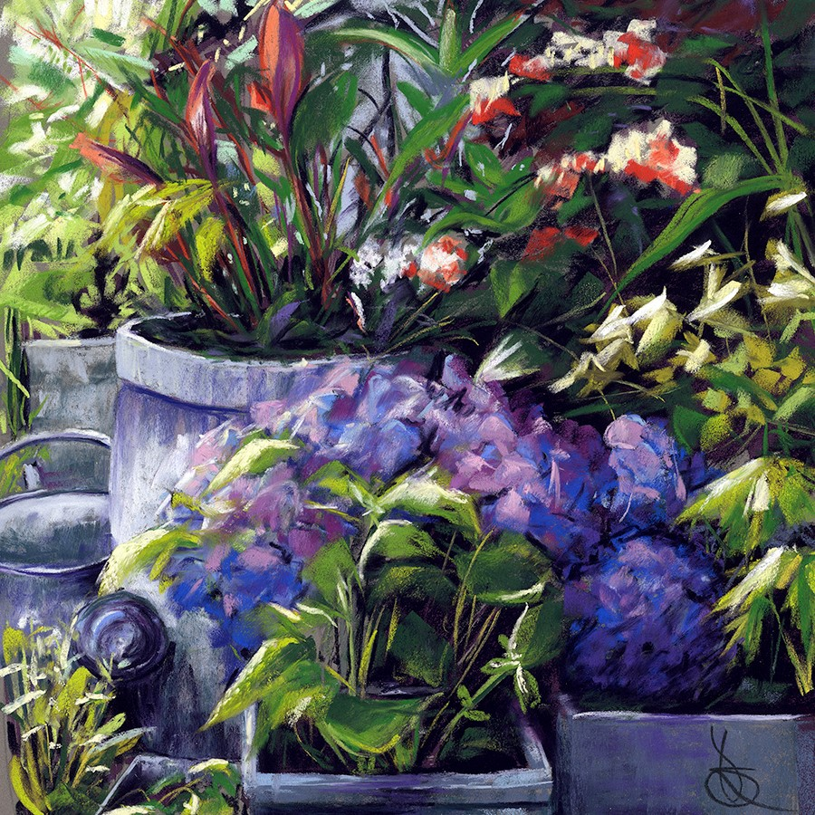 """Hydrangeas"" original fine art by Valorie Sams"