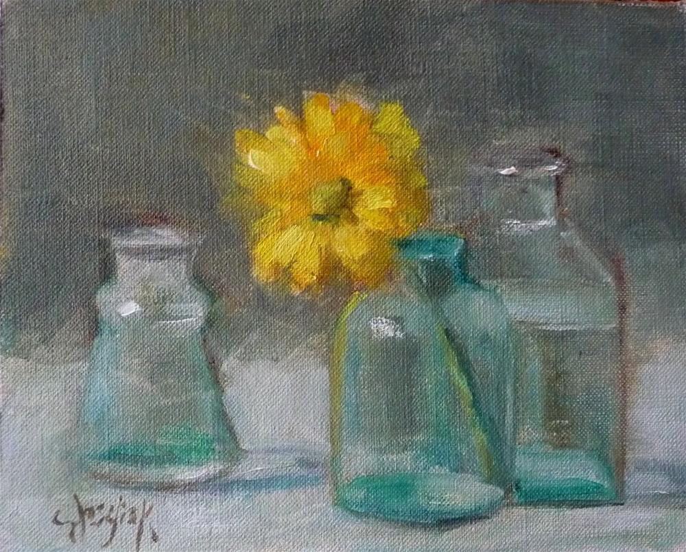 """Blue Vases"" original fine art by Carol Josefiak"