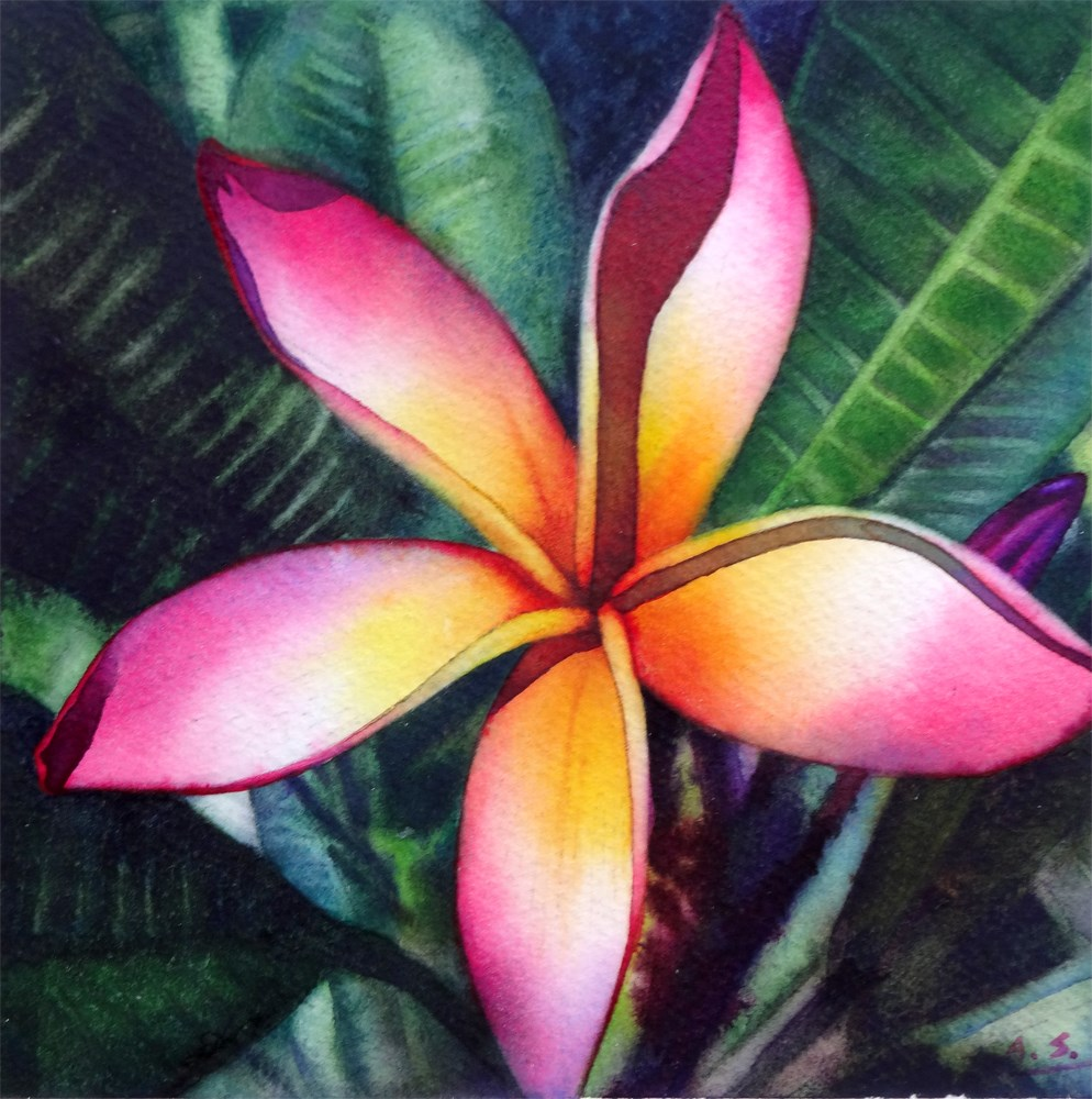 """""""Tropical Greetings"""" original fine art by Arena Shawn"""