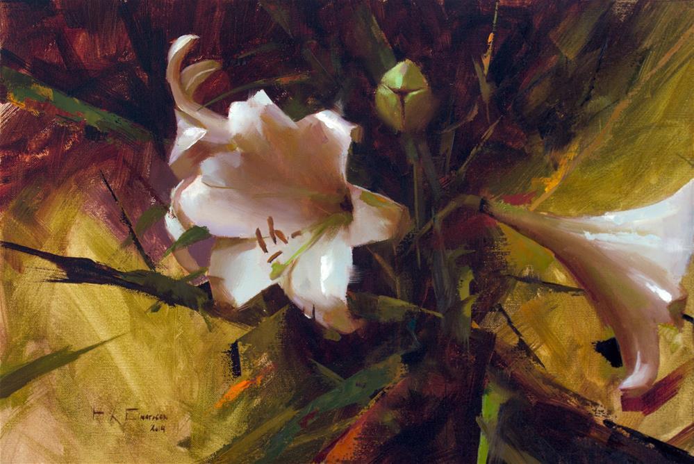 """White lilies"" original fine art by Thorgrimur Andri Einarsson"