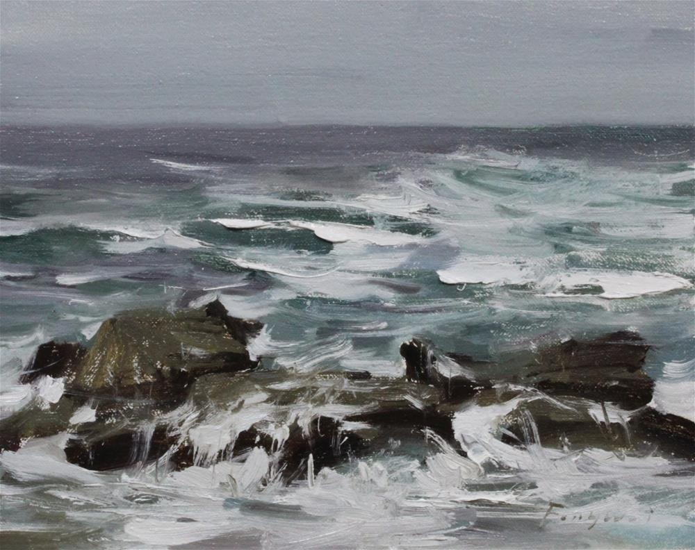 """Monterey Bay"" original fine art by Fongwei Liu"