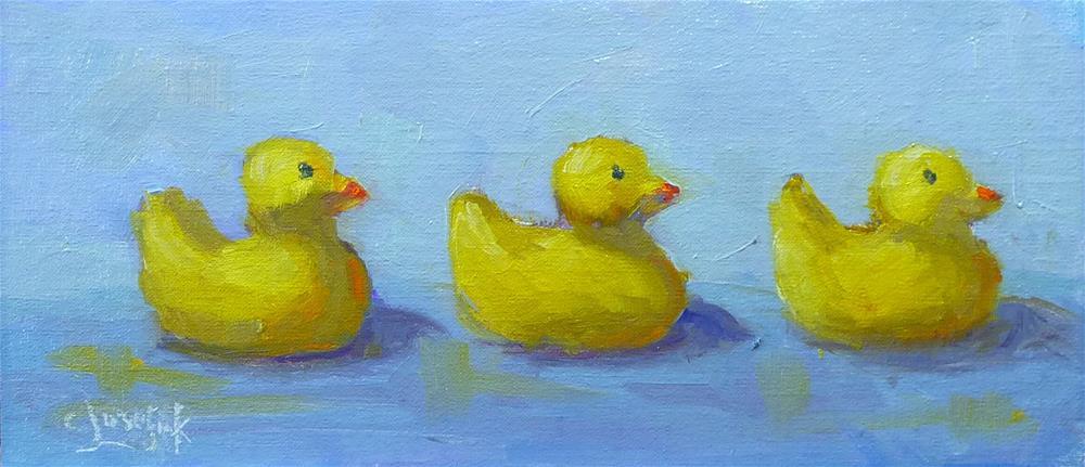 """Get your ducks in a row"" original fine art by Carol Josefiak"