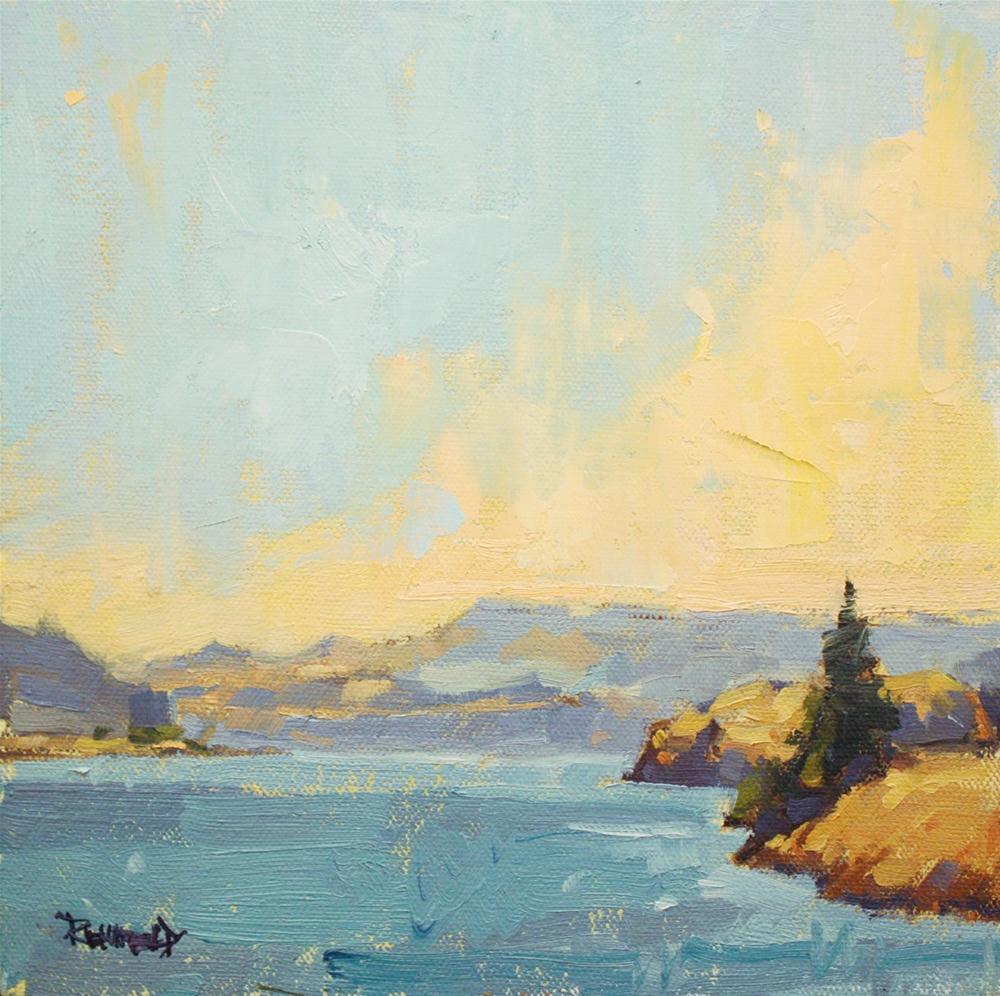 """Columbia River View"" original fine art by Cathleen Rehfeld"