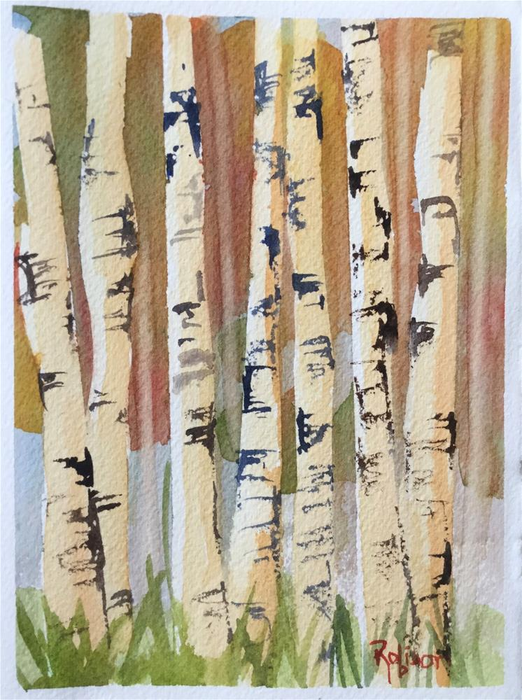 """Aspens in Fall"" original fine art by Renee Robison"