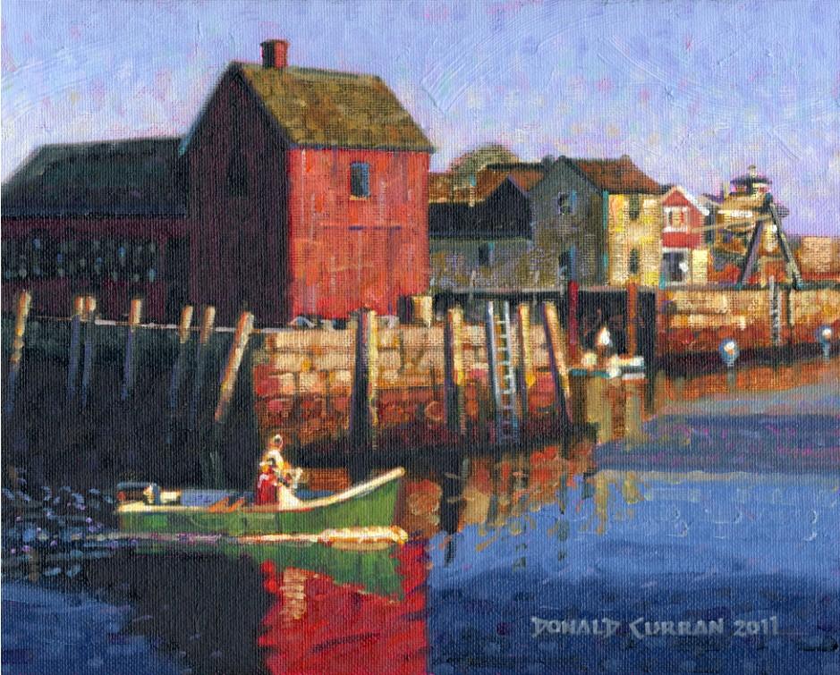 """Rockport Harbor"" original fine art by Donald Curran"
