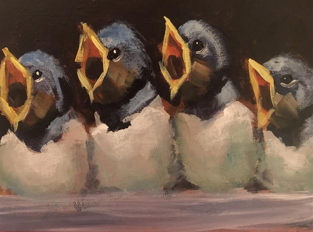"""Songbirds II"" original fine art by Susan Elizabeth Jones"
