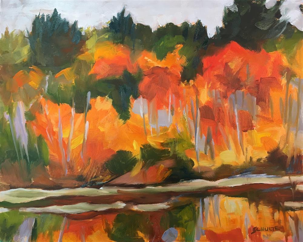 """Swamp Maples on Rock Pond"" original fine art by Lynne Schulte"