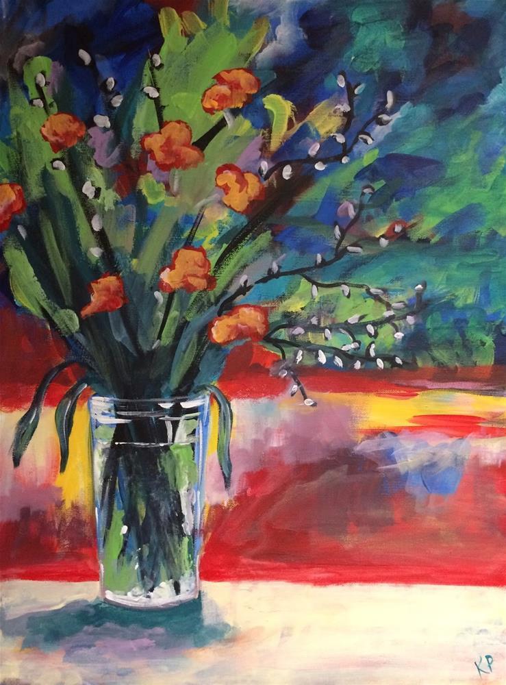 """Poppies"" original fine art by Kali Parsons"