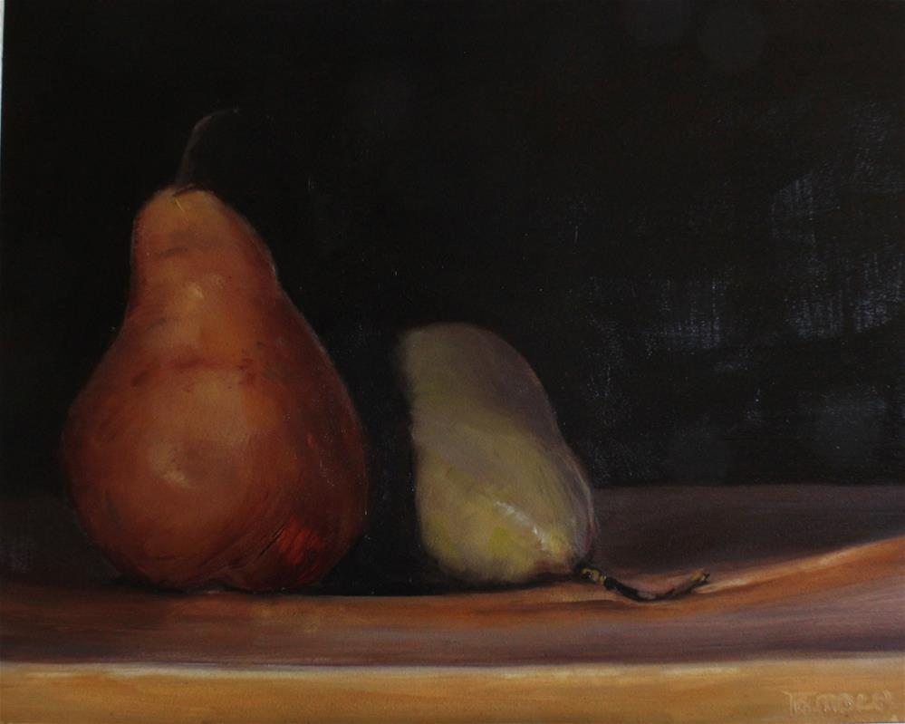"""""""Two Bosc Pears"""" original fine art by Tamsen Armstrong"""