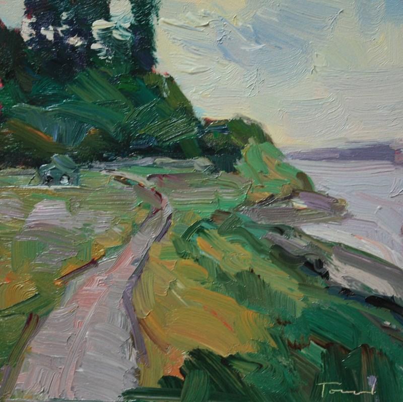 """Fort Casey Beach Road"" original fine art by Kathryn Townsend"