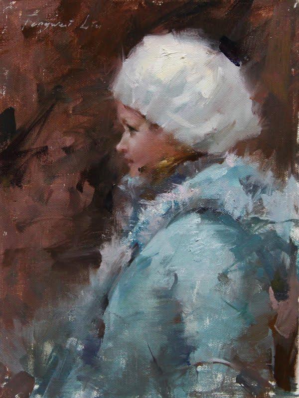 """""""Russian Girl"""" original fine art by Fongwei Liu"""
