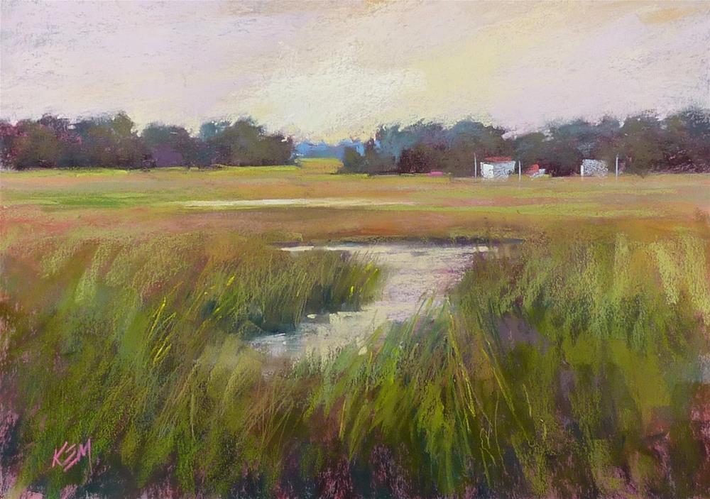 """Pastel Demo ....Seven Steps to a Marsh"" original fine art by Karen Margulis"