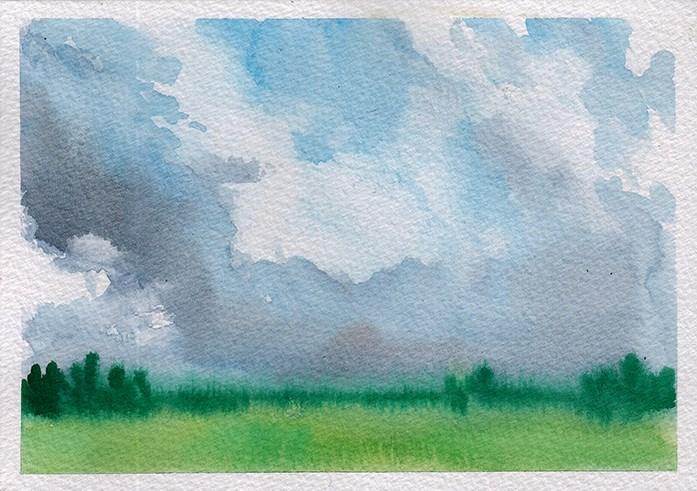 """Small Cloudscape 1"" original fine art by J M Needham"