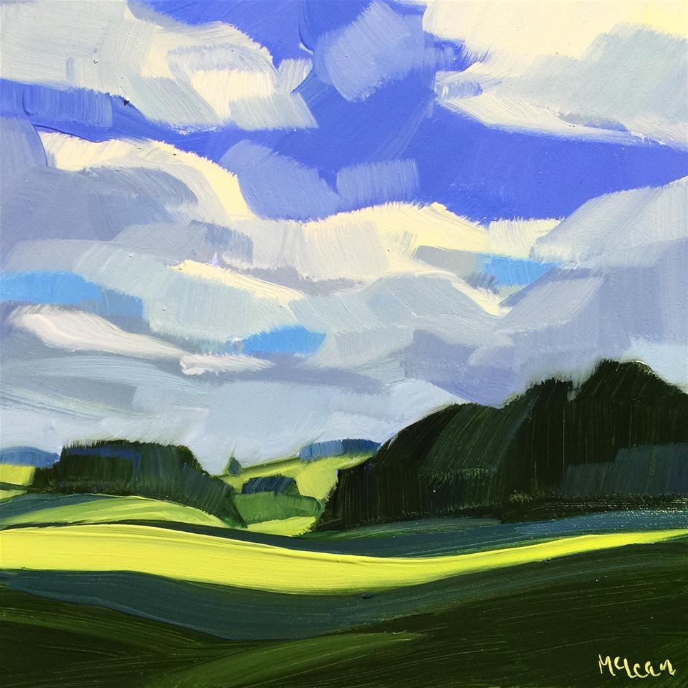 """""""A Somerset Morning"""" original fine art by Meg McLean"""