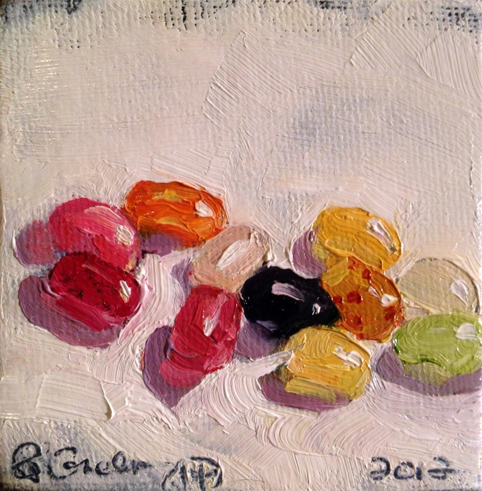 """""""Jelly Belly, Jelly Beans"""" original fine art by Paula Howson-Green"""