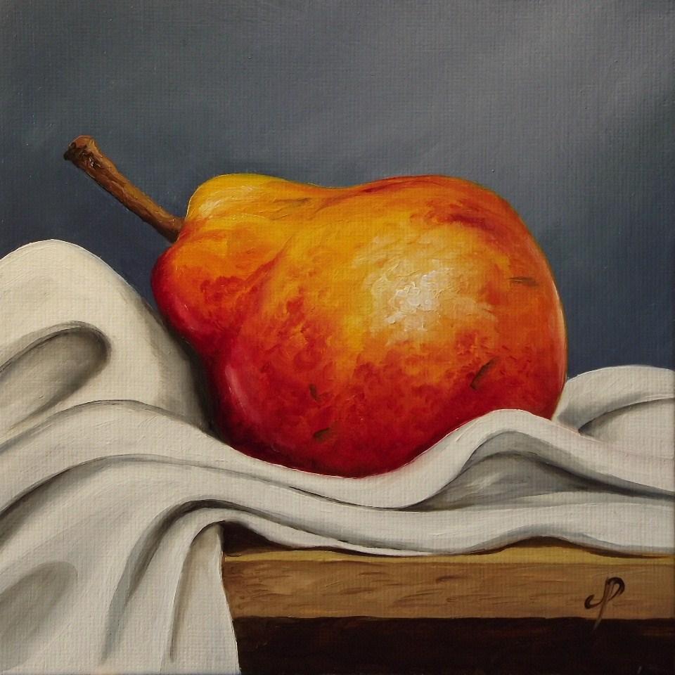 """Reclining Pear"" original fine art by Jane Palmer"