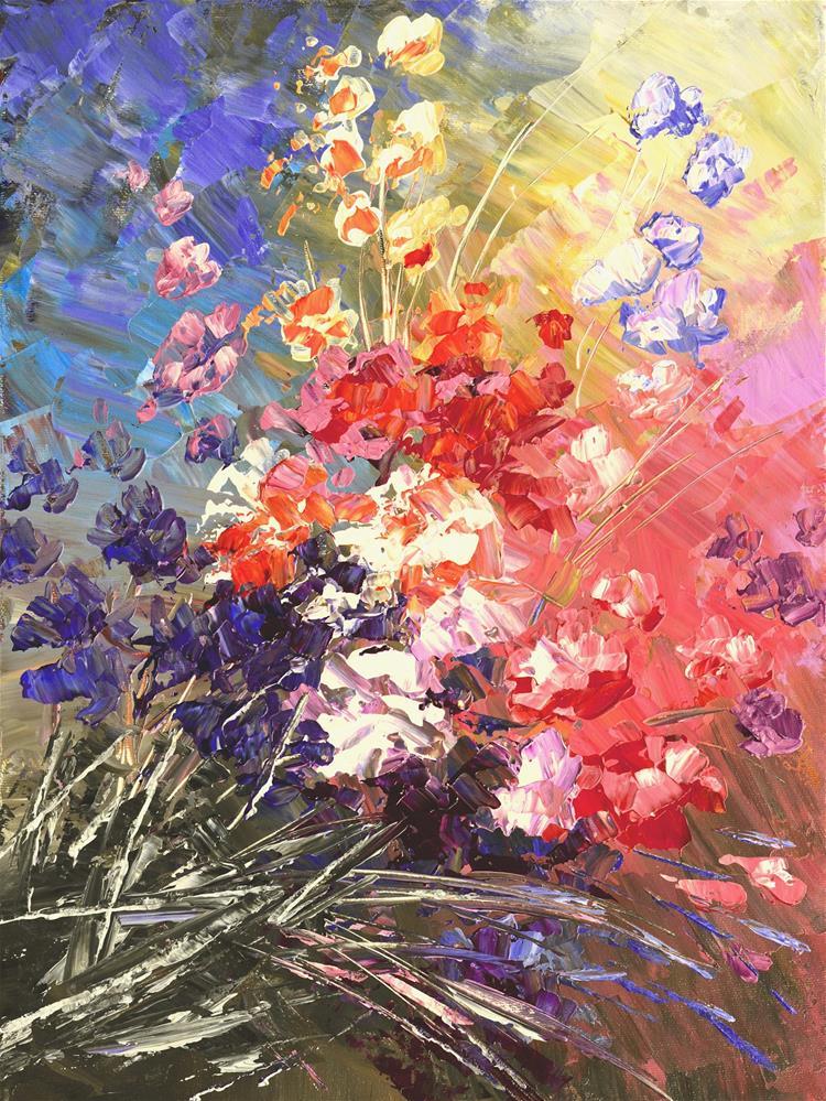 """Sparkling with Cheer"" original fine art by Tatiana Iliina"