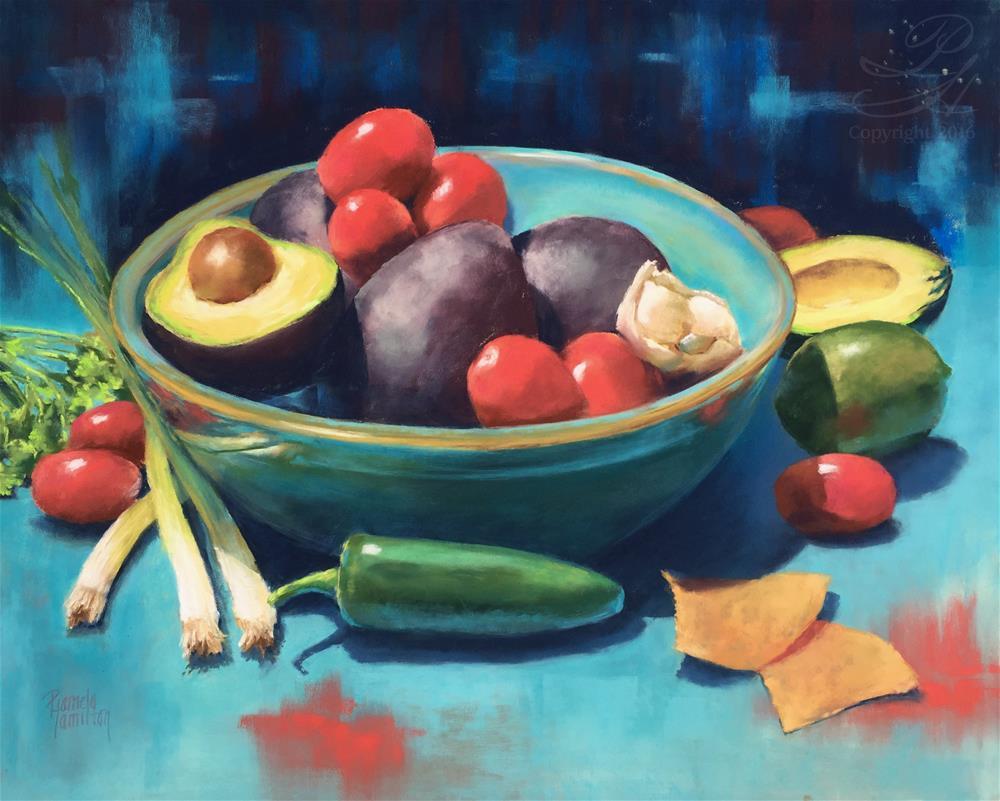 """Guacamole"" original fine art by Pamela Hamilton"