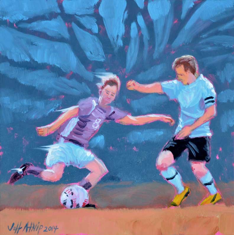 """Soccer Boys 2"" original fine art by Jeff Atnip"