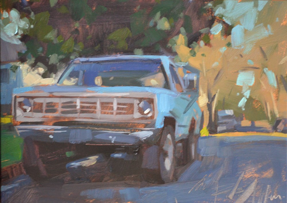"""Something Old and Blue"" original fine art by Carol Marine"