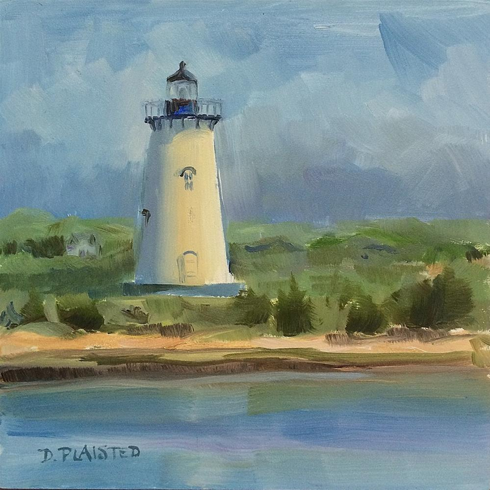 """Edgarton Lighthouse, Martha's Vineyard"" original fine art by Diane Plaisted"