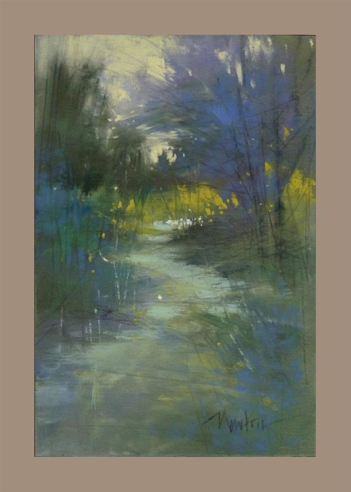 """Study #4 for Dappled Path"" original fine art by Barbara Benedetti Newton"