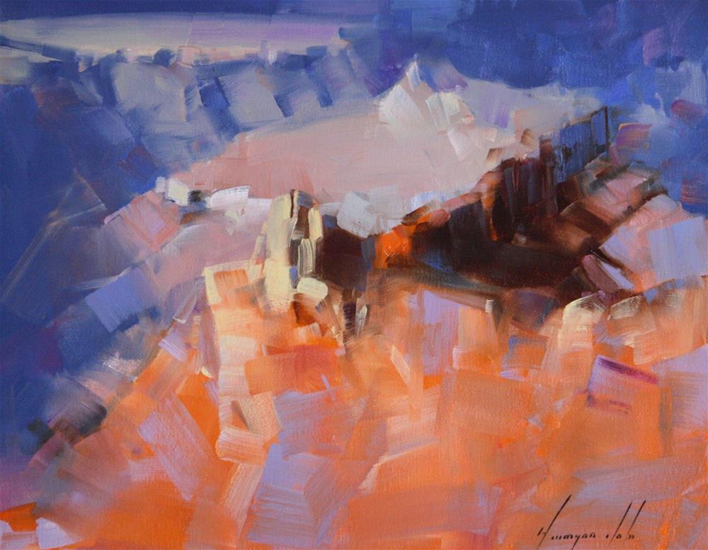 """GRAND CANYON ARIZONA OIL PAINTING"" original fine art by V Y"