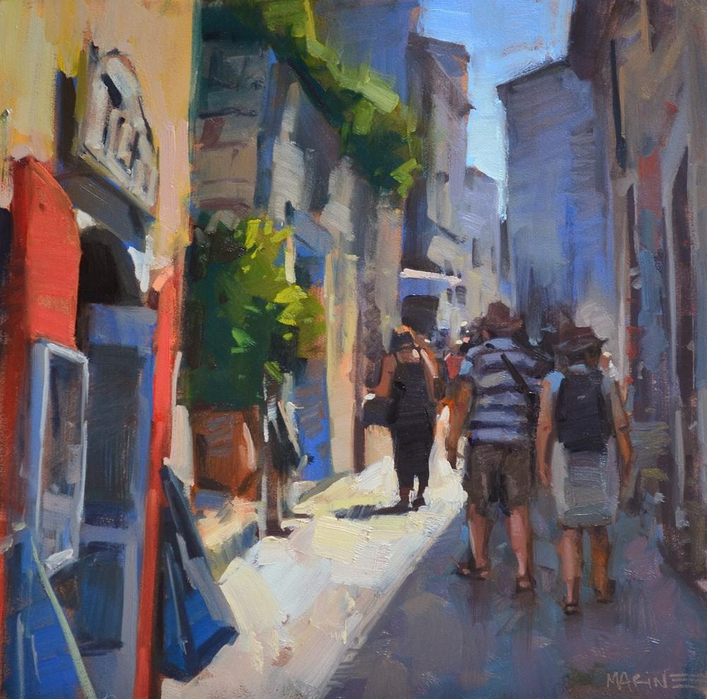 """Let's Explore France"" original fine art by Carol Marine"