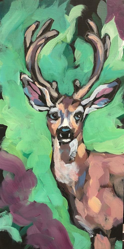 """Bright Eyes"" original fine art by Kat Corrigan"