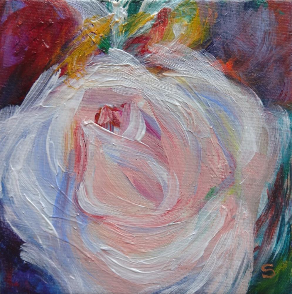 """4015 - Manet's Rose - Mini Master Series"" original fine art by Sea Dean"