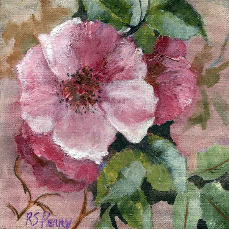"""Wild Roses "" original fine art by R. S. Perry"