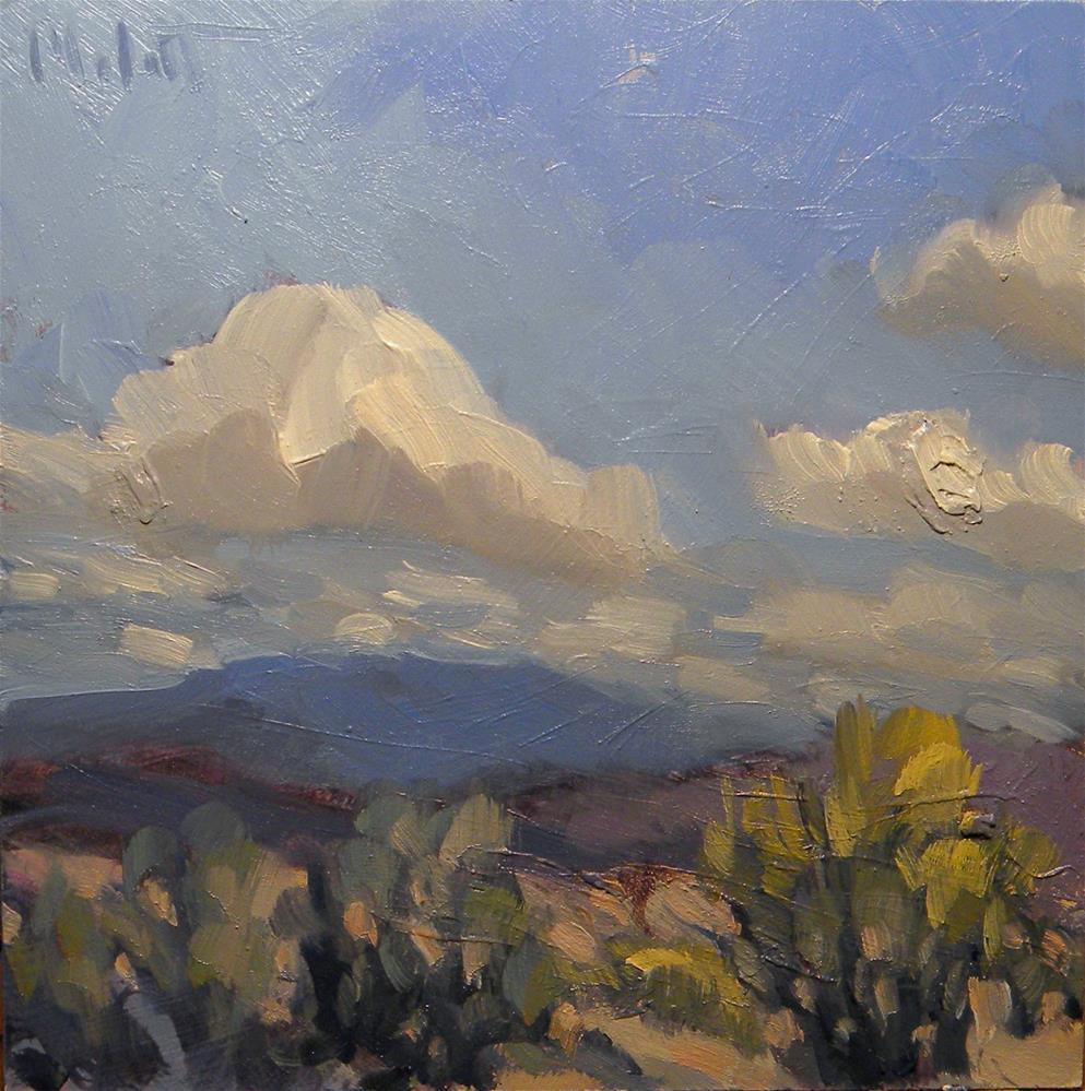 """Desert Purple Southwest Landscape Impressions"" original fine art by Heidi Malott"