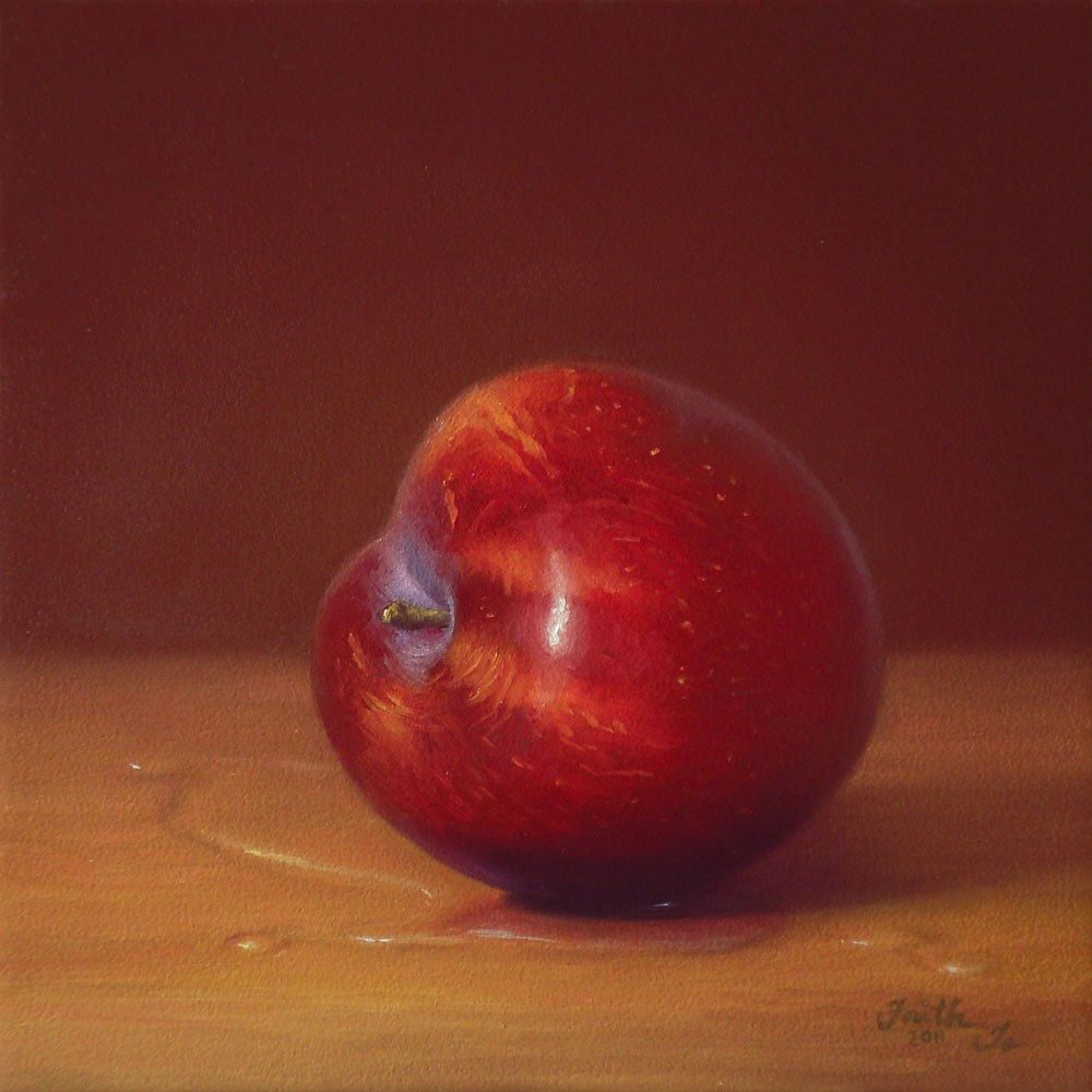 """Red Plum No. 2"" original fine art by Faith Te"