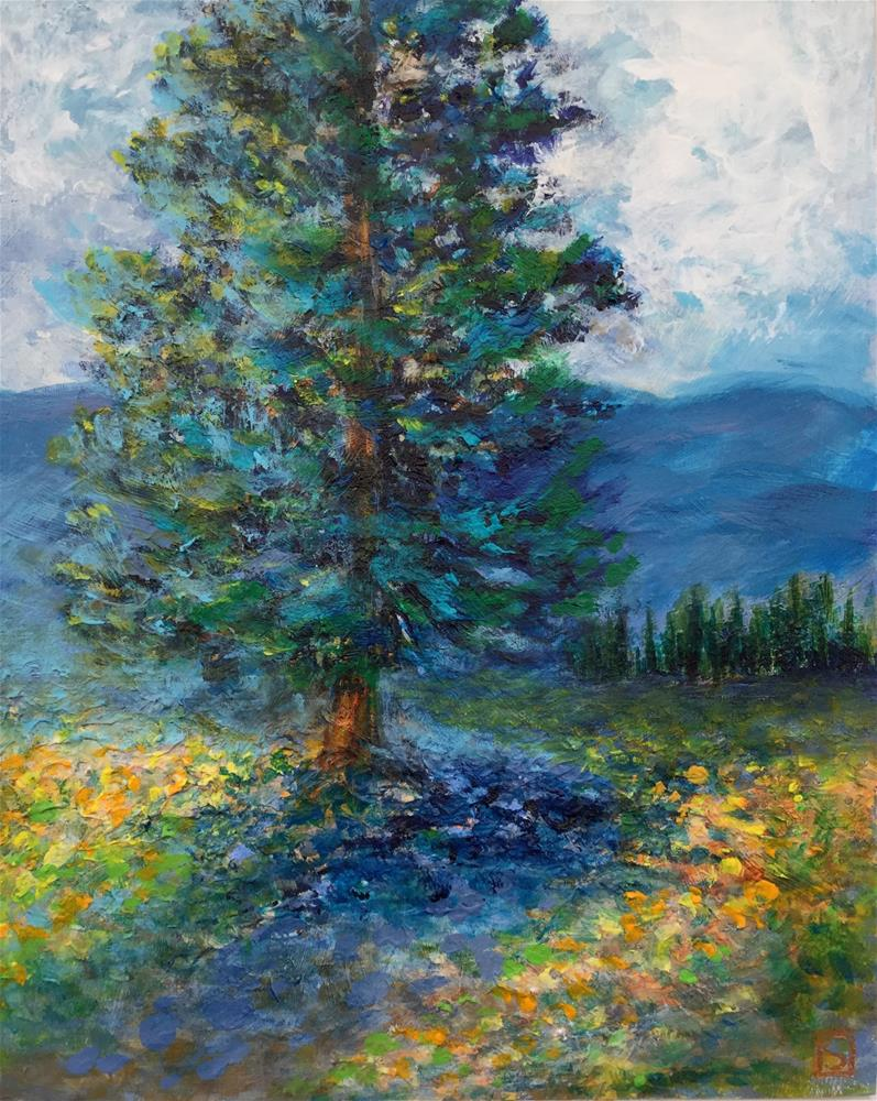 """6077 - Ponderosa Spring white fame"" original fine art by Sea Dean"