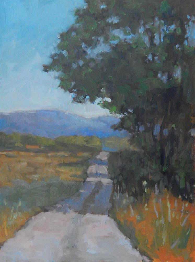 """""""Road in Provence"""" original fine art by Lisa Kyle"""
