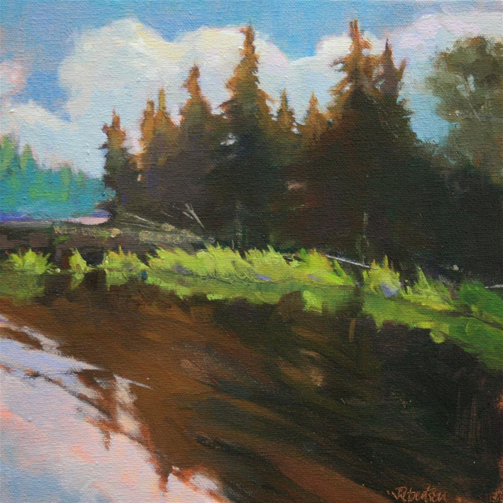 """""""Late Afternoon at Harcourt"""" original fine art by Jane Robertson"""