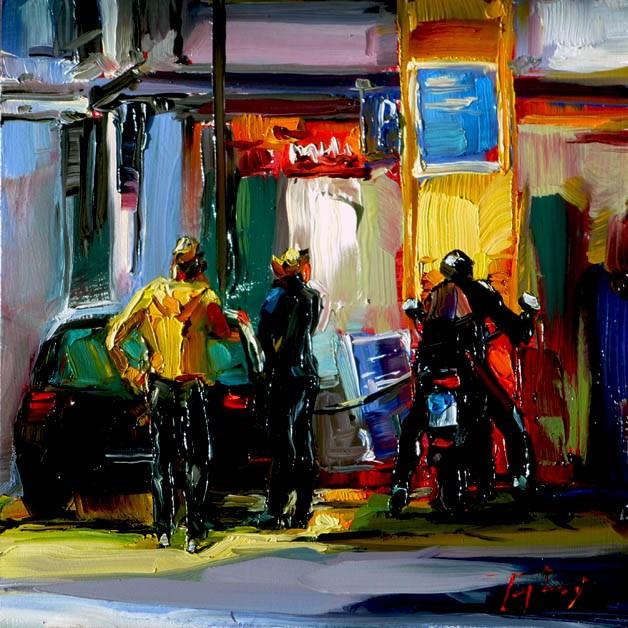 """""""Tankstelle"""" original fine art by Jurij Frey"""