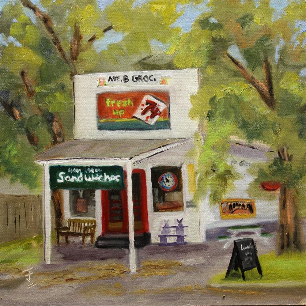"""Avenue B Grocery"" original fine art by Jane Frederick"