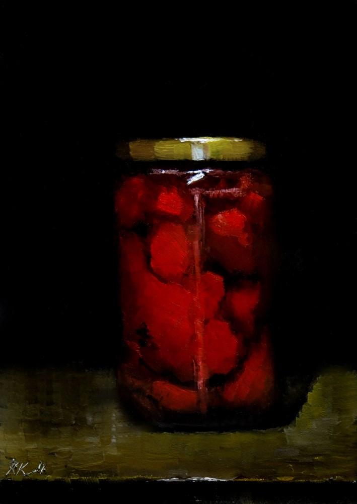 """Roasted Italian Peppers"" original fine art by Bob Kimball"