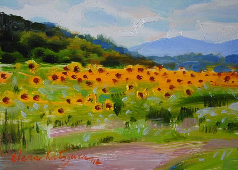 """Summer in Biltmore Estate"" original fine art by Elena Katsyura"