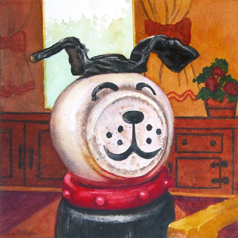 """The Family Dog"" original fine art by Kara K. Bigda"