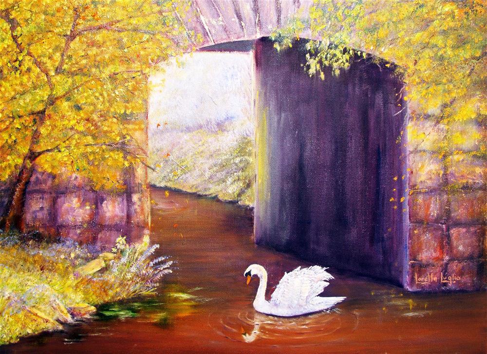 """""""The Mill Swan"""" original fine art by Loretta Luglio"""