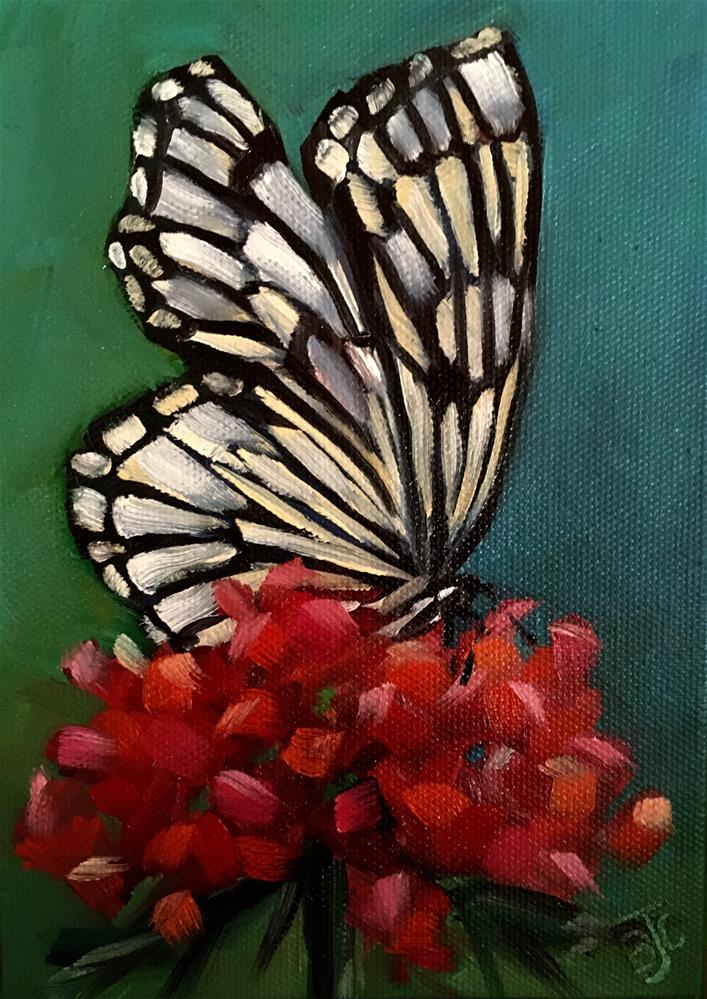 """Butterfly Challenge 2"" original fine art by Bobbie Cook"