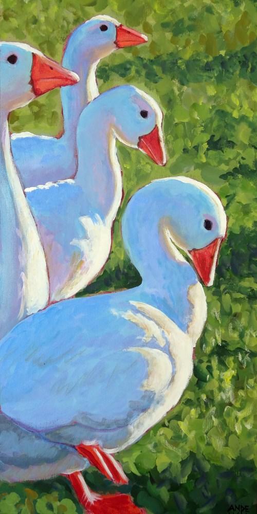 """Goose March"" original fine art by Ande Hall"